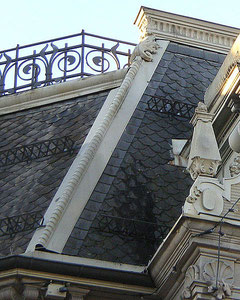 Gitterschneefang: Meist in städtischen Regionen verwendet und speziell bei älteren, denkmalgeschützen Gebäude.