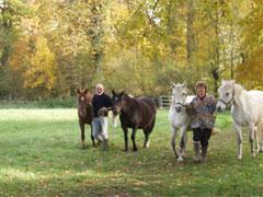 Les 2 éleveurs et leurs poulinières