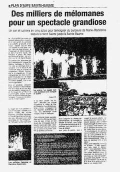 Concert à la Sainte Baume le 21 juillet 2002