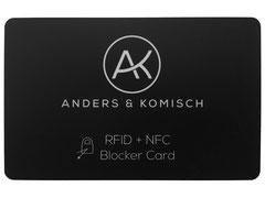 RFID + NFC Blocker Card Karte schütz die Kreditkarten schutz Sicherheit auslesen