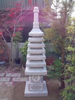 万成石七重の塔:本磨き仕上げ