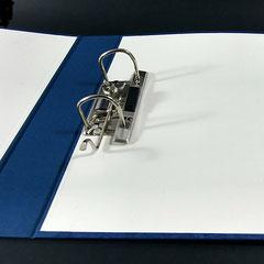 Ringbuch mit Hebel-Mechanik