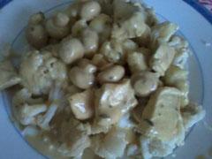 Dinde à la moutarde et champignons