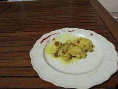 Poulet curry et coco
