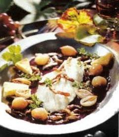 Filets de Poissons au bourgogne rouge