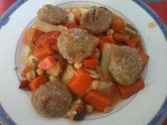 Couscous et boulettes de boeuf