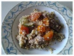 Quinoa boulgour et ses petits légumes