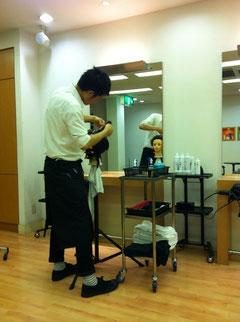 朝も夜も練習の西田君、ストイック。