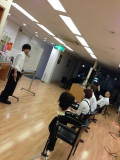 N氏がカメラ目線で講習を開催!
