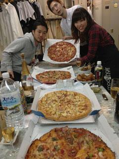 ピザのカーペット。