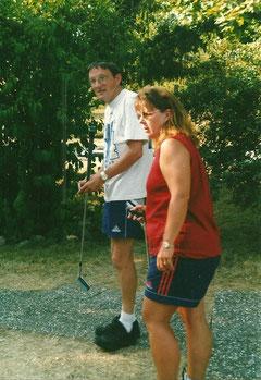 Michaele und Andrea Reinicke beim Training