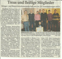 Zeitungsbericht zur Abschlussfeier 2011