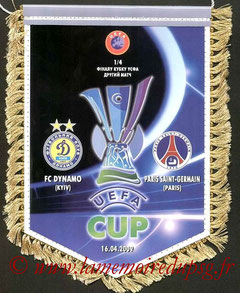 Fanion  PSG-Dynamo Kiev  2008-09