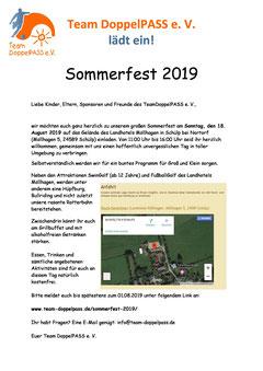 Die Einladung zum Sommerfest