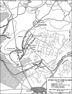 Colonel Sinks Angriff auf St. Come-du-Mont, 8. Juni 1944