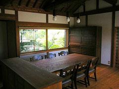 食堂 テーブル・家具古材で製作