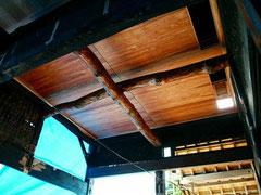 ダイニングキッチン 天井工事 壁は漆喰塗り