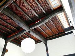 和室茶の間 天井煤竹張り