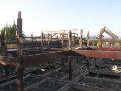 土蔵造り民家解体