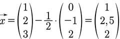 Lösung des Beispiels zur Berechnung der Lage einer Geraden zu einer Ebene