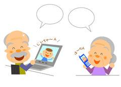 孫とテレビ電話