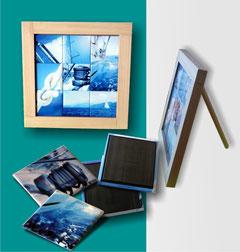 Mini tableau 9 magnets 5x5 cm