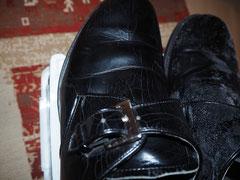 一週間後の左の靴の写真。カビなし。