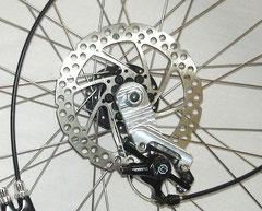 Universal disc brake Adaptor installed