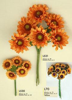 girasoli L 531 €0,80 a fiore- L530 pezzi 6 € 200 - L70 pezzi 12 € 2,50