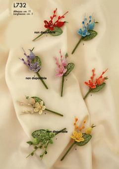 fiori rustici con foglia € 0,80 cadauno