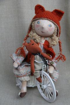 авторская текстильная интерьерная кукла, единственный экземпляр