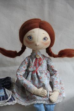 авторская текстильная кукла, единственный экземпляр