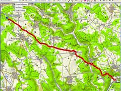 Strecke 20.3km  Beanspruchte Zeit 4.54 Std.  Insgesamt 50 min Pause