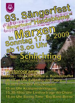 Plakat Sängerfest 2009