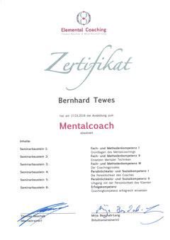 "Zertifikat ""Mentalcoach"", Thomas Baschab"