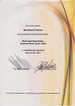 Zertifikat Richard Bandler