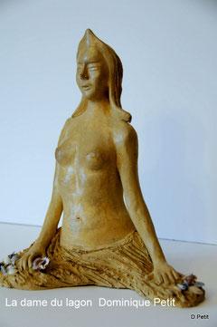 La dame du lagon, sculpture patinée. D. Petit