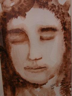Bernard ,aquarelle, D.Petit