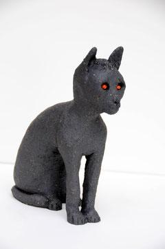 Le chat Bastet , terre cuite; D.Petit
