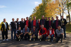 Orteturnier: Die ersten 5 Platzierten mit Schiedsrichter Gerahrd Dorn