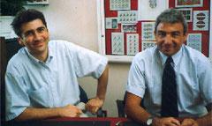 Michel Verrando & Michele Alboretto (dédicaces timbre Enzo Ferrari)