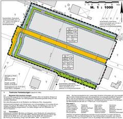 Auszug aus dem Bebauungsplan Nr. 96, Industriegebiet Werlte