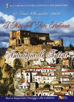 """Copertina del catalogo d'Arte """" I Miti dell'Arte Italiana """""""