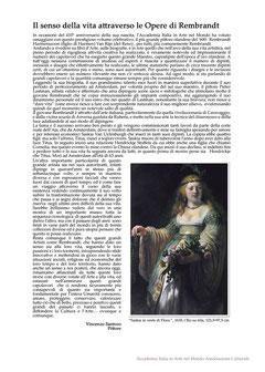 La mia personale introduzione all'Albo Celebrativo voluta dal Direttivo dell'Accademia inserita a pagina 23