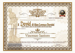"Diploma "" Il David di Bernini "" 2015"
