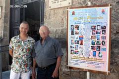 All'ingresso della galleria del Castello Aragonese con il M° Nicola Giudetti ( Foto F.P. Occhinegro )