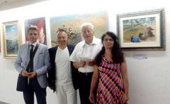 Lecce, 3 luglio. Da sn.: Dario Chiavarini, Vincenzo Santoro, Fortunato Frontoni, Maria Torrelli.