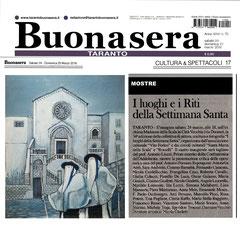 Articolo di Taranto Buonasera Taranto del 24 marzo 2018