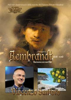 Copertina dell'Albo Celebrativo in omaggio a Rembrandt in occasione del 410° anniversario della sua nascita