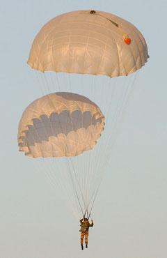 Применение основного и запасного парашютов одновременно